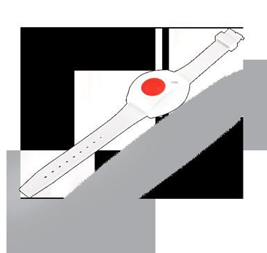 Funkarmband-Alarmknopf